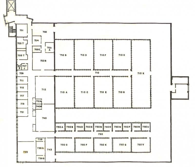 Floorplan of the Biological Sciences Greenhouse